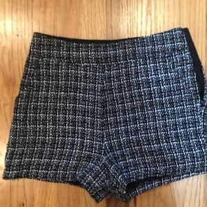 Black and white Tweed high waisted shorts from UO